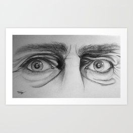 Starring Death in the Face Art Print