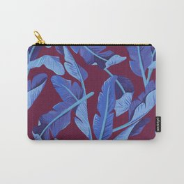 Tropical '17 - Blue Bird Of Paradise [Banana Leaves] Carry-All Pouch