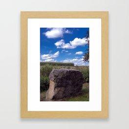 Landscape rock Framed Art Print