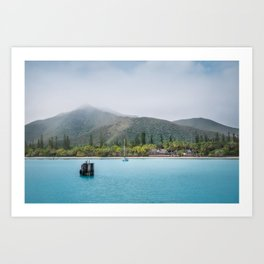 Kuto Bay View at Isle of Pines, New Caledonia Art Print