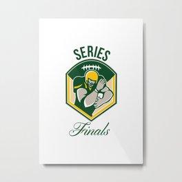 American Gridiron Running Back Series Finals Crest Metal Print