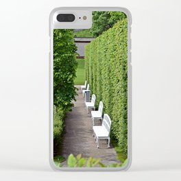 White Benches Clear iPhone Case