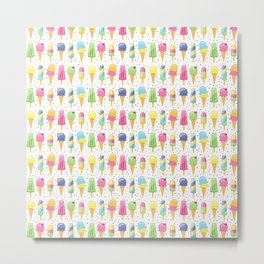 ice cream pattern art Metal Print