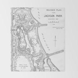 Revised Plan for Jackson Park 1895 Throw Blanket