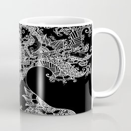 Unity of Halves - Life Tree - Rebirth - Black Coffee Mug