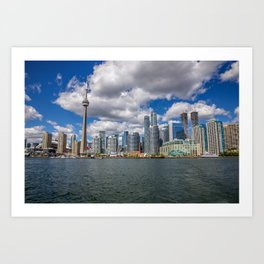 Toronto, Ontario, Canada (Beautiful Skyline of Toronto during the day) Art Print