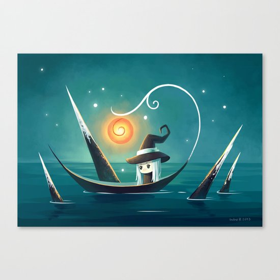 Little Witch 3 Canvas Print