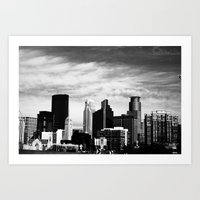 minneapolis Art Prints featuring Minneapolis by Sarah Margulies