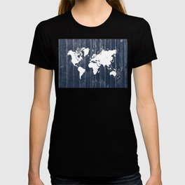 world map 98 white #worldmap #map T-shirt