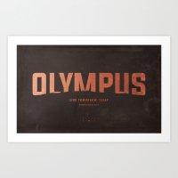heroes of olympus Art Prints featuring AfterShock - Olympus by NCCreations