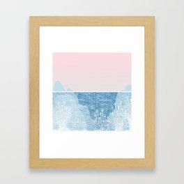 Pastel Sea Landscape Design Framed Art Print