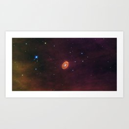 Hubble Space Telescope - A star set to explode Art Print