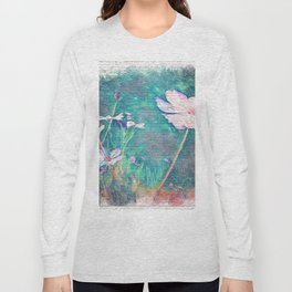 The Flower In Urban Street Art Long Sleeve T-shirt