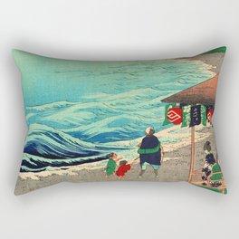Shichirigahama Beach and Mount Fuji Japan Rectangular Pillow