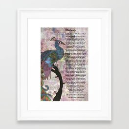 The Desiderata Poem on Antique Peacock Paper Framed Art Print
