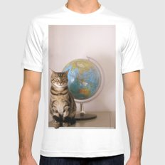 The World Is Not Enough White Mens Fitted Tee MEDIUM