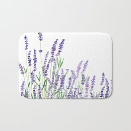 lavender watercolor horizontal Bath Mat