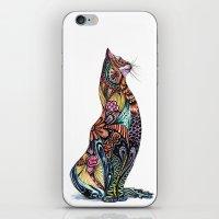 tatoo iPhone & iPod Skins featuring Tatoo cat by Annie Liu