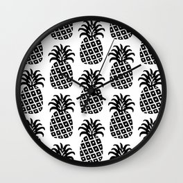 Retro Mid Century Modern Pineapple Pattern 532 Wall Clock