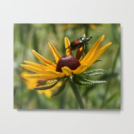 bugged out Metal Print