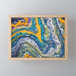 Circle Mint - FELT Expressions Framed Mini Art Print