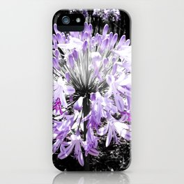 Lila flower iPhone Case