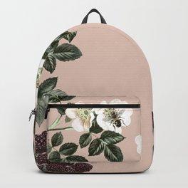 Bee Blackberry Bramble Coral Pink Backpack