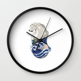 Naga with Water Symbol Wall Clock
