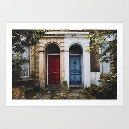 Brixton Twin Houses Art Print