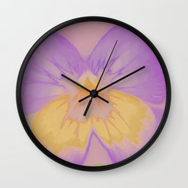 Pansies, The Earth Laughs In Flowers Wall Clock