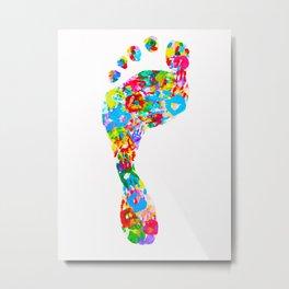 Foot Hand Metal Print