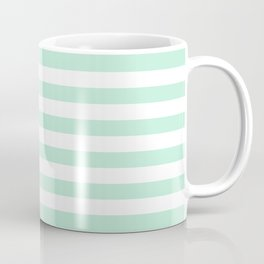 Stripe Horizontal Mint Green Coffee Mug