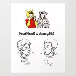 Dan and Phil (Unoffical) Art Print