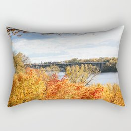 Twin Cities Mississippi River Rectangular Pillow