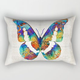 Colorful Butterfly Art by Sharon Cummings Rectangular Pillow
