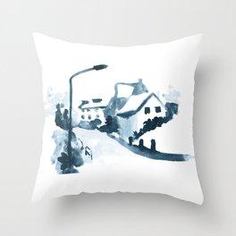Street Corner Throw Pillow