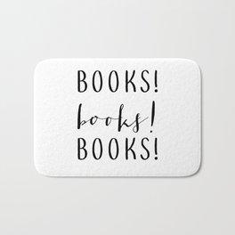 Books books books Bath Mat