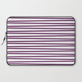 Purple and white thin horizontal stripes Laptop Sleeve