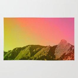 Boulder Colorado Flatirons Decor \\ Chautauqua Park Sunset Red Yellow Photo Nature Bohemian Style Rug