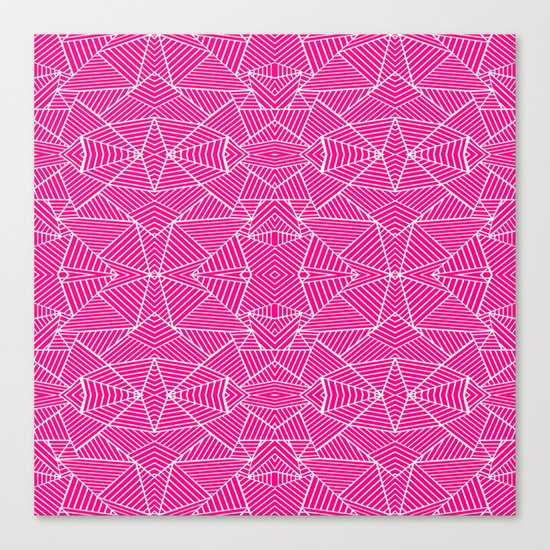 Ab Zoom Mirror Fushia Canvas Print