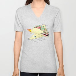Taco Fighter Jet Unisex V-Neck