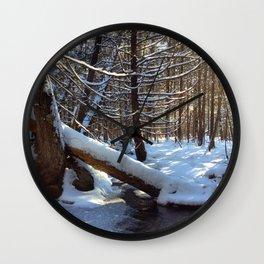A winter hike Wall Clock