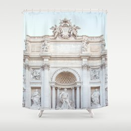 Trevi Fountain - Rome Italy Architecture, Travel Photography Shower Curtain