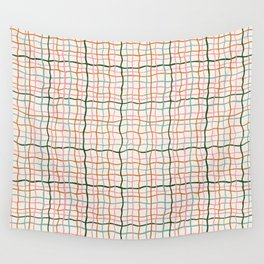 Retro Gingham - Pastel Colors  Wall Tapestry