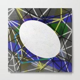 White Noise - Abstract Art Metal Print
