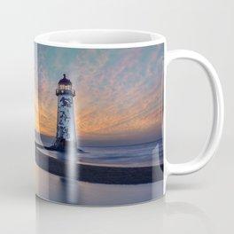 Sunset at Talacre Lighthouse Coffee Mug