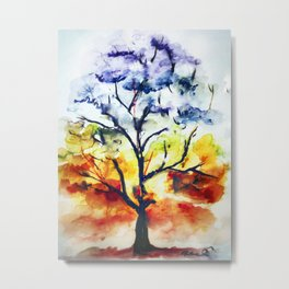 Chakra Tree of Life Metal Print