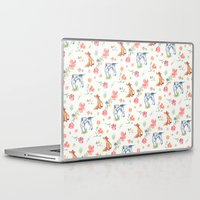 the hound Laptop & iPad Skins featuring Fox & Hound by jilln
