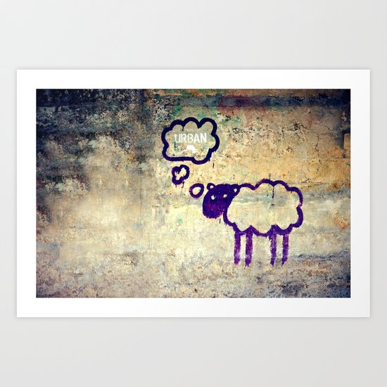 Urban Sheep Art Print