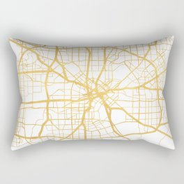DALLAS TEXAS CITY STREET MAP ART Rectangular Pillow